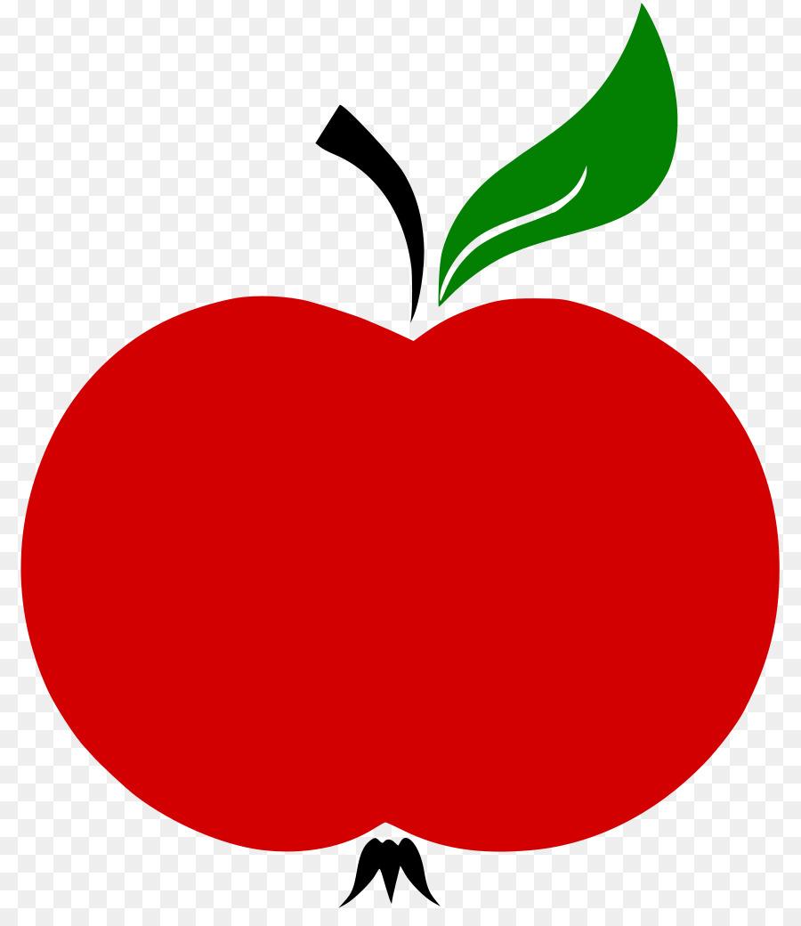 Яблоко с листочком картинка