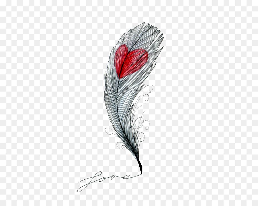 Перо и сердце картинки