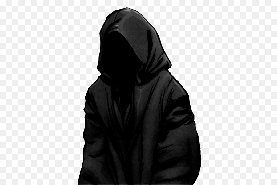 Картинки черный силуэт в капюшоне