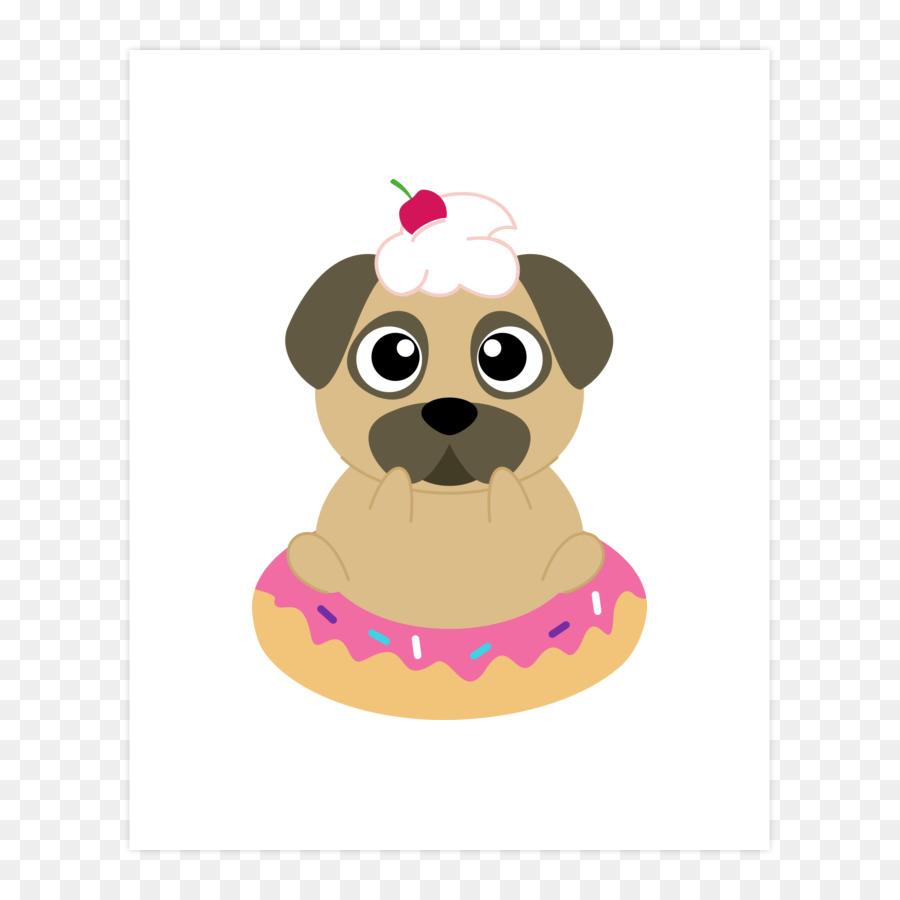красивые картинка собака с пончиком менее