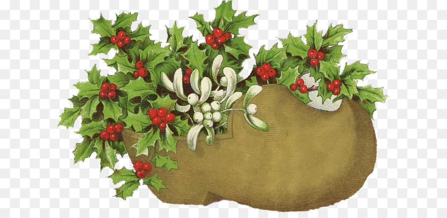 Днем, рождественские открытки с омелой
