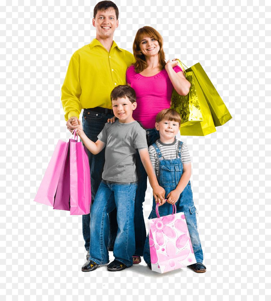 Фото счастливая семья с покупками