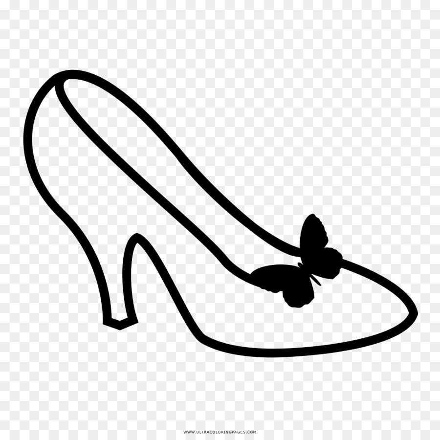 Раскраска туфельки распечатать