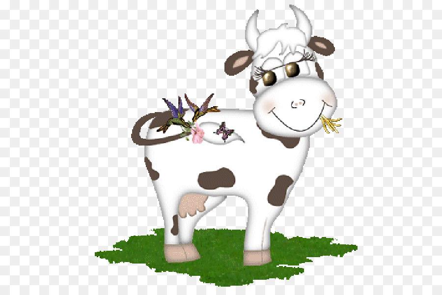Корова гиф на прозрачном фоне
