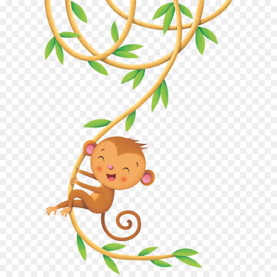 Картинки обезьяна на лиане