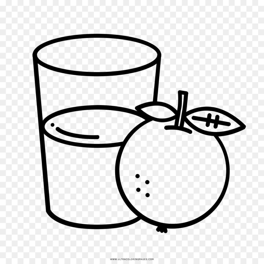 Картинка черно-белая сок