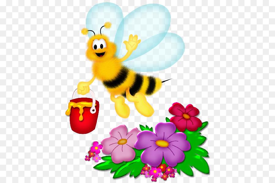 пчелки и цветы картинки