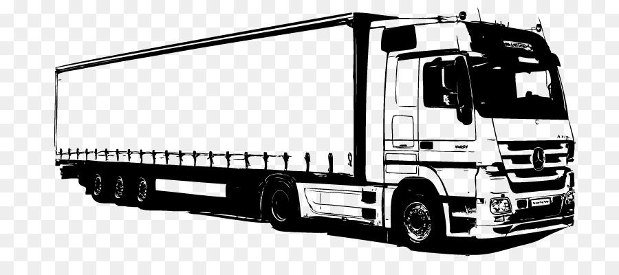Картинка черно белая грузовик