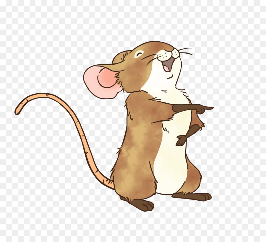 Смешная мышка рисунок