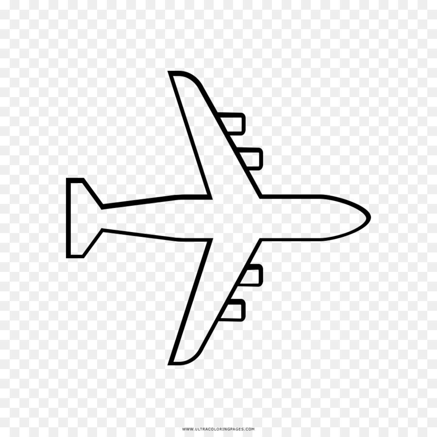 Картинки как нарисовать самолет сверху