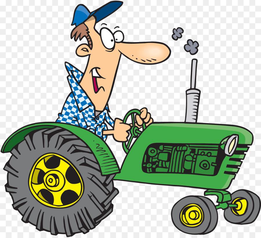 Поздравительная открытка с трактором