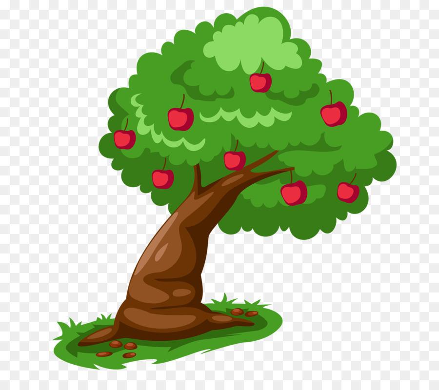 Картинки мультяшной яблони разгар лета