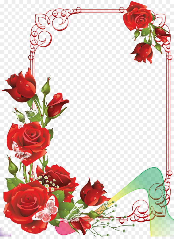 Рамка для поздравления с розами, надписью думаю