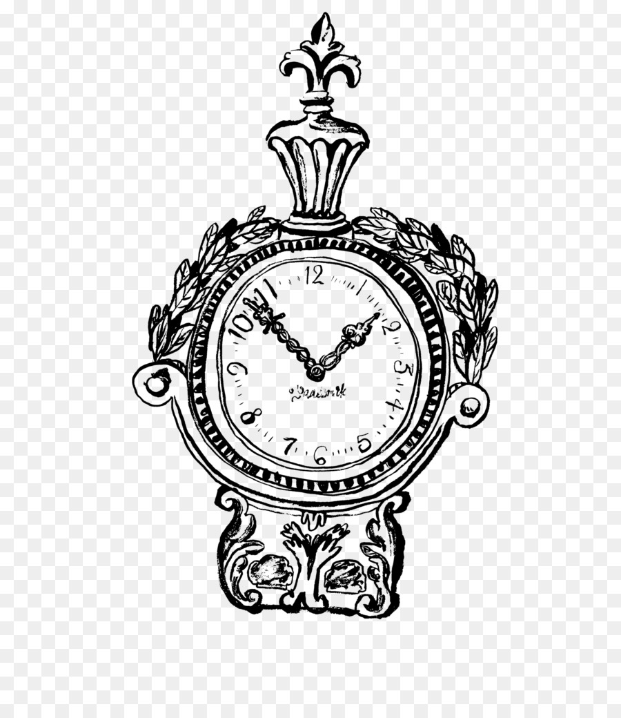 Папе 23ф, старинные часы рисунок