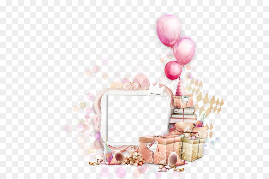 Открытка с днем рождения девушке на прозрачном фоне
