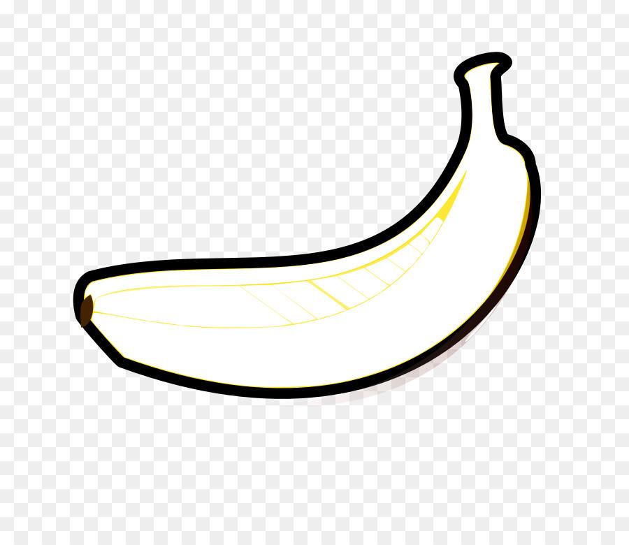Контурная картинка банана