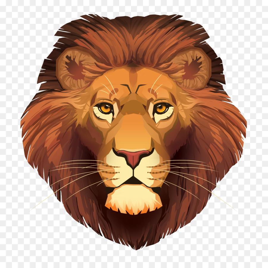 голова льва картинка для печати один