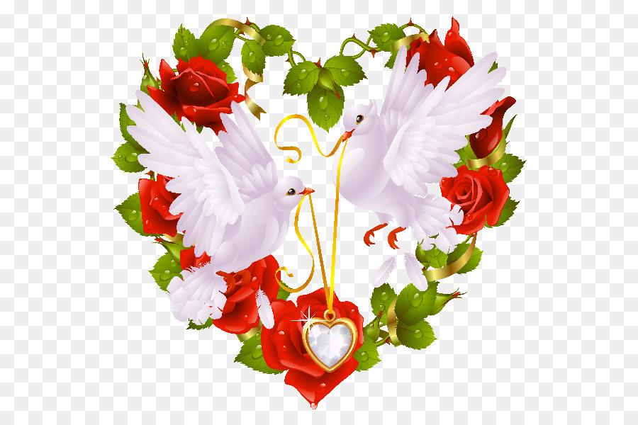Картинки с сердцами и голубями