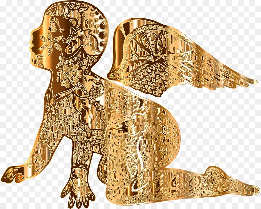 картинки золото ангелы