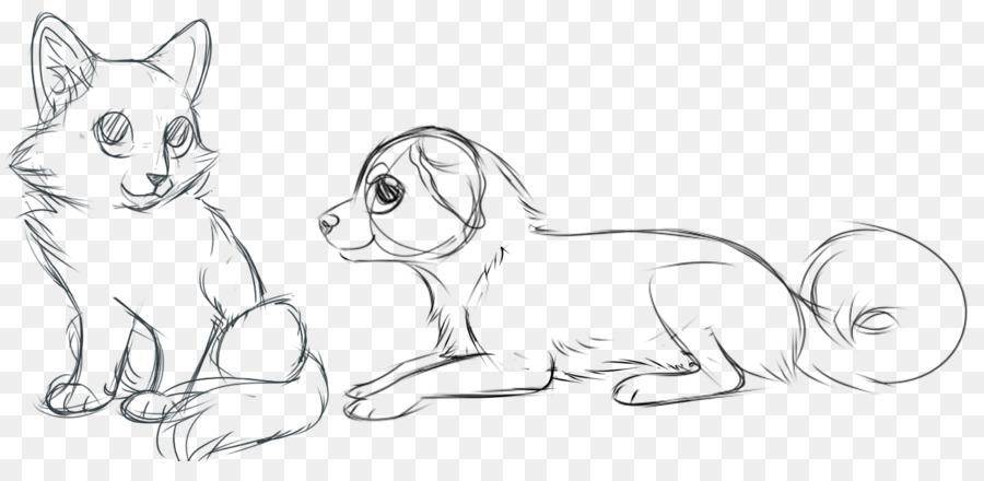 Картинки собак и кошек рисовать