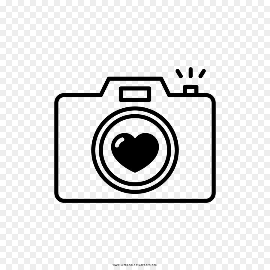 Фотоаппарат рисунок черно белый