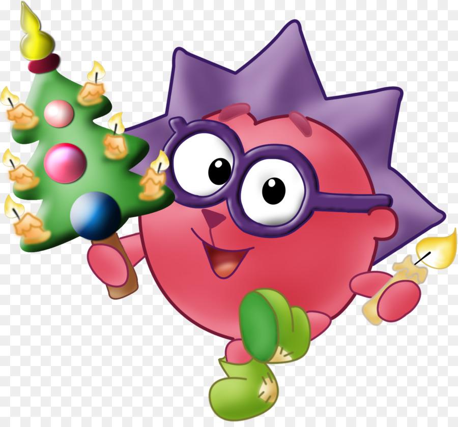 Новогодние картинки смешарики, акварельными цветами