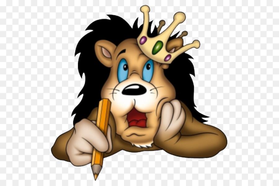 Лев смешной рисунок