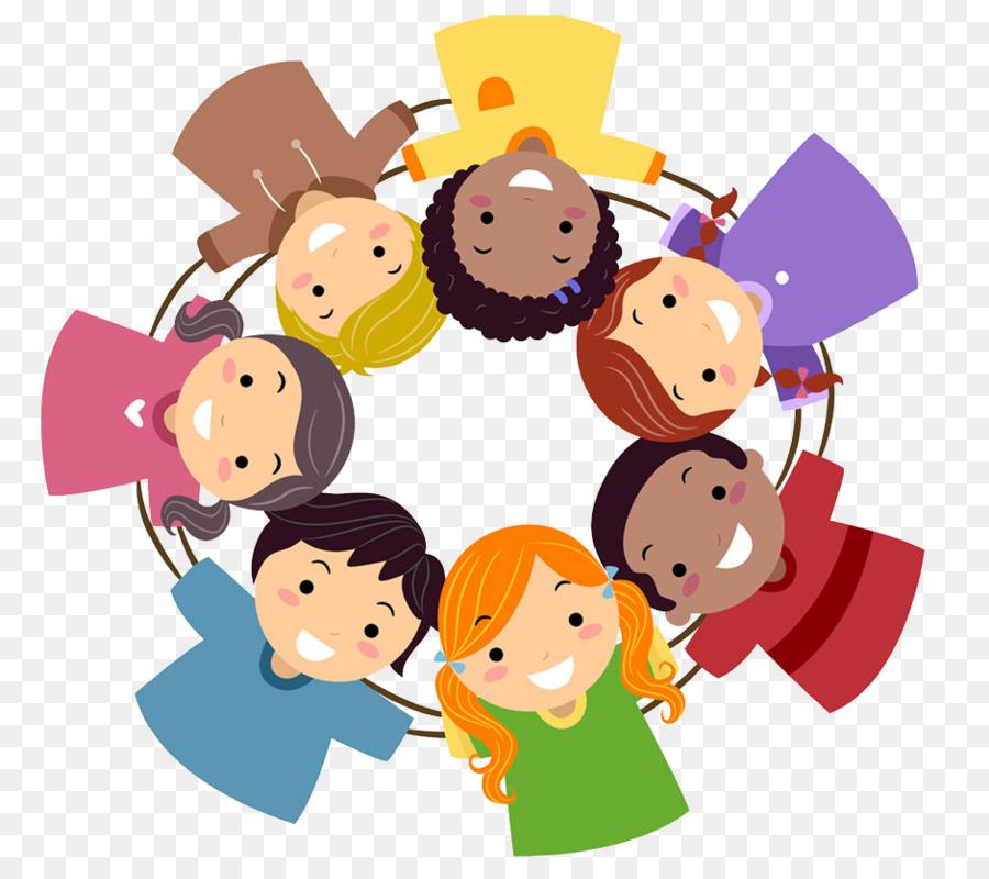 Картинка дети в кругу нарисованная
