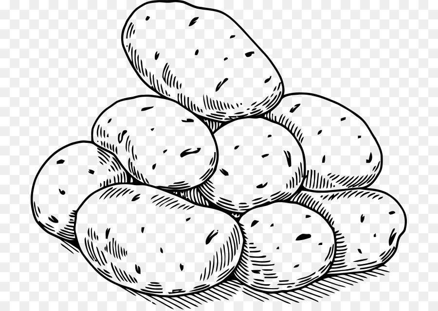 черно белый рисунок картошки