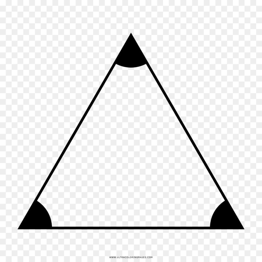 добился картинки равностороннего треугольников любом случае, если
