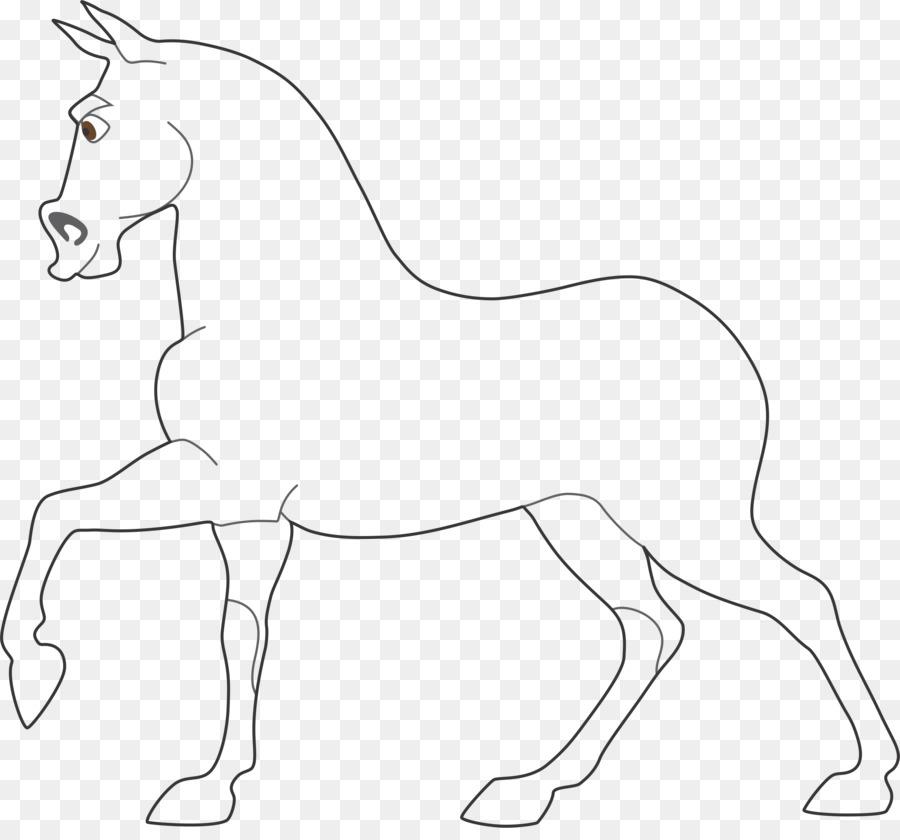 Картинка коня шаблон