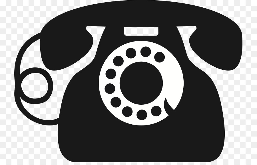 Картинка телефон черно белая