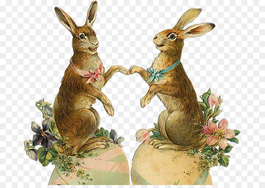 Сердечко, открытка пасхальный заяц