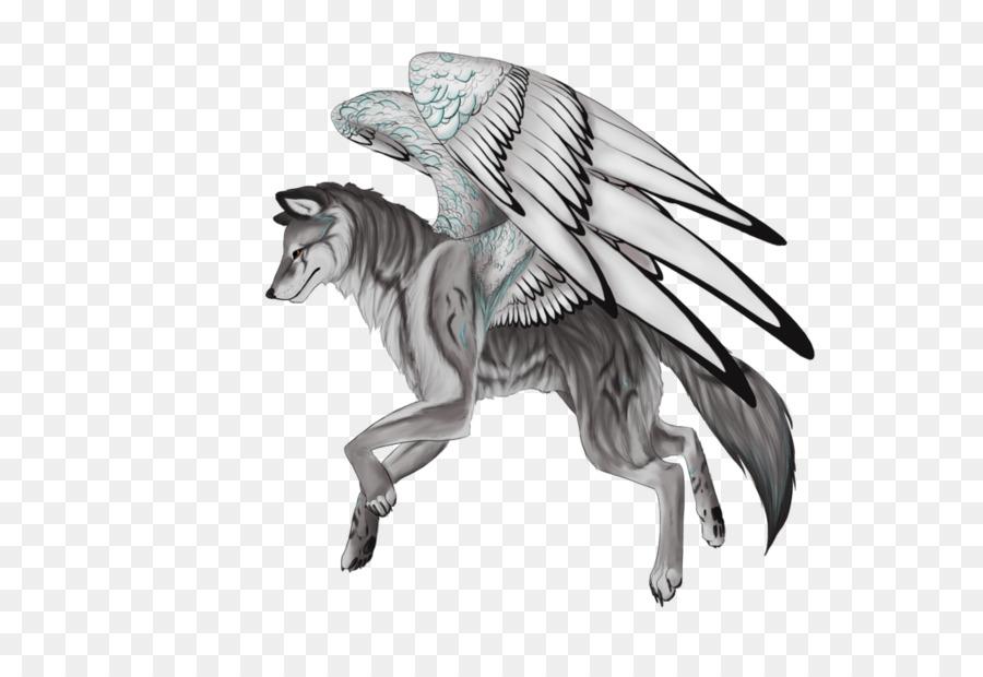 картинки крылатого волка и как нарисовать подробности кобулети узнаете