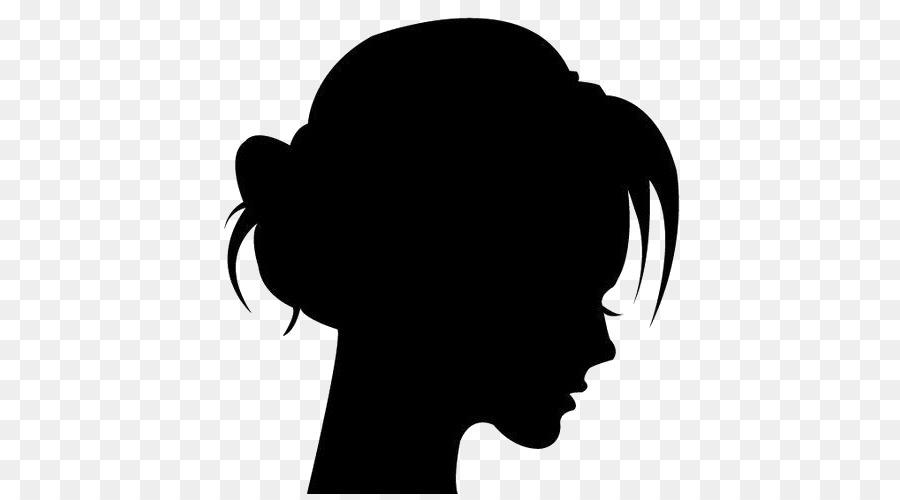 Силуэт женской головы картинки