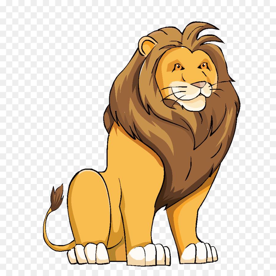 Картинка мультяшная лев кушает