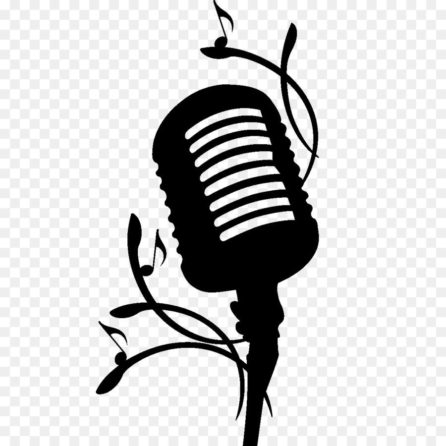 Ноты и микрофон рисунки