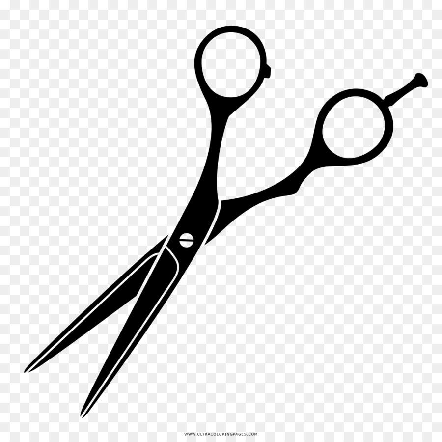 Картинка ножницы парикмахера на прозрачном фоне