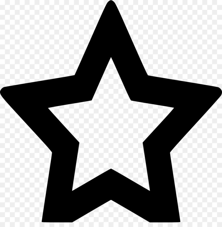 Черно белая картинка звезды с закругленными концами