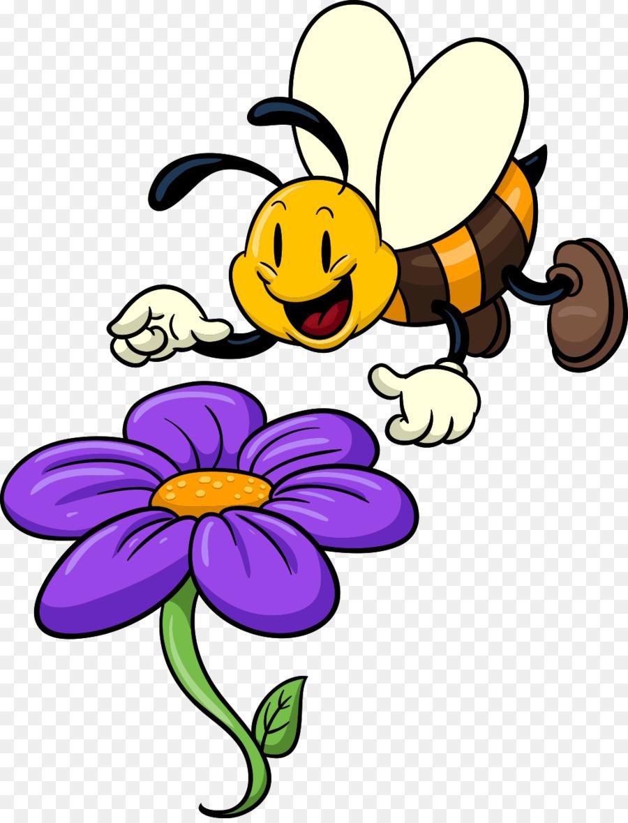 Картинки пчелок на цветах для детей
