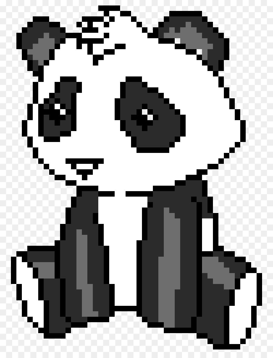 Картинка по клеточкам панда