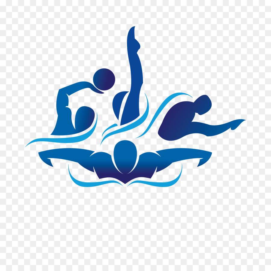Эмблема плавания картинки спортивная