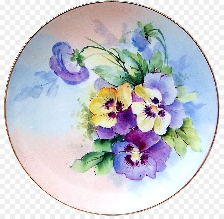 них картинки тарелочки с цветами семье