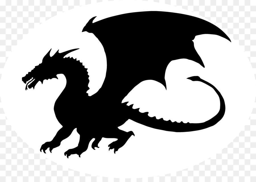 Силуэт дракон картинки