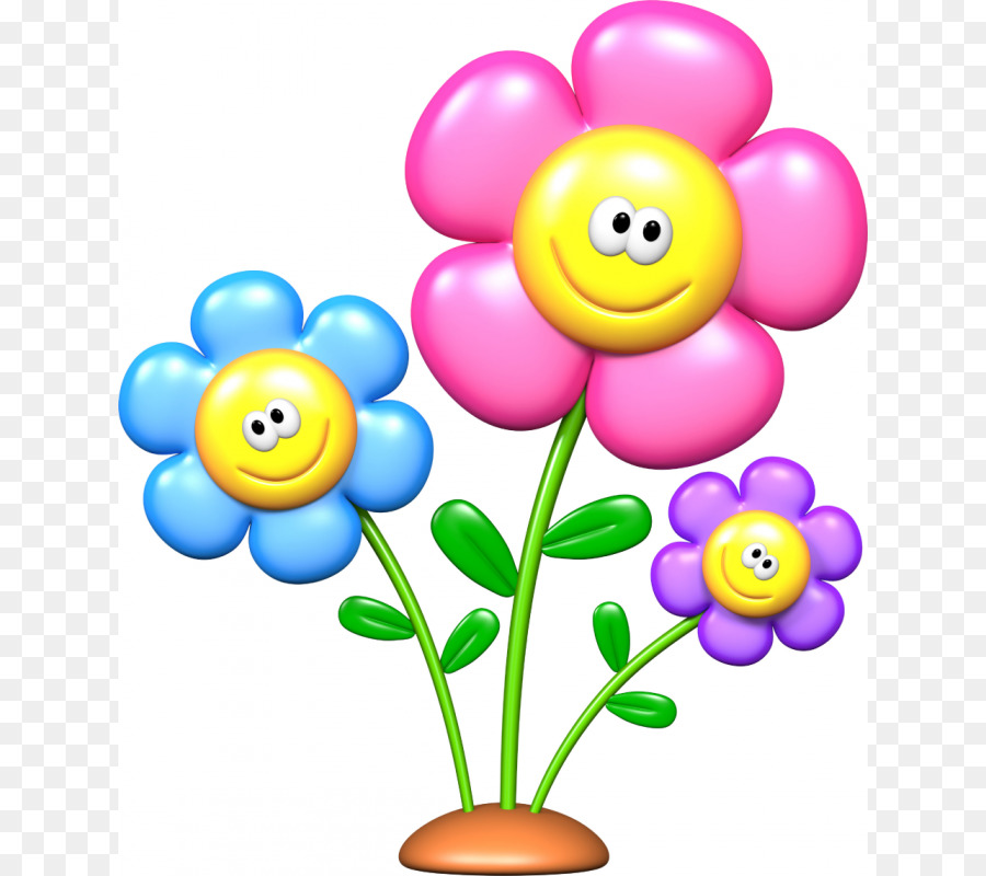 Картинка для детей цветок улыбается для детей