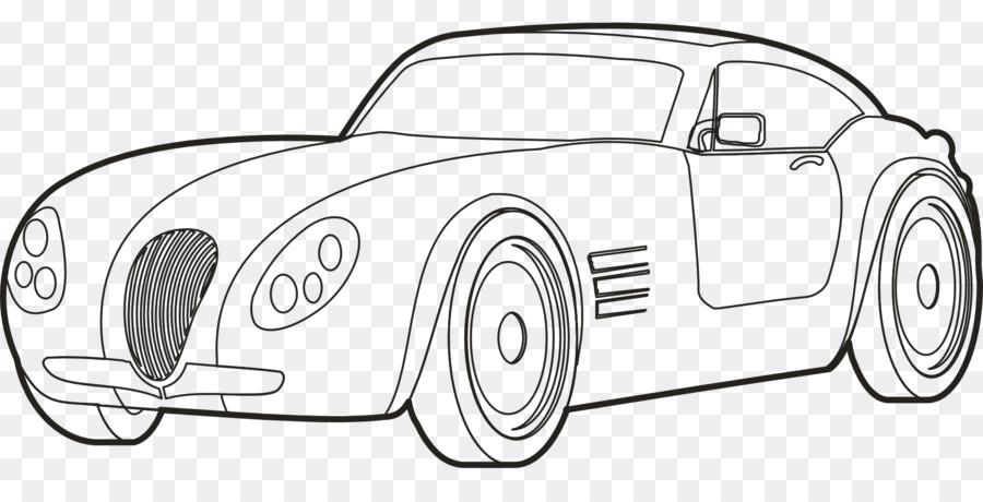 Картинка черно-белая машины