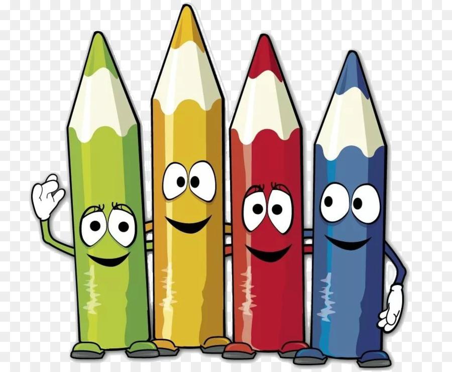 цветные карандаши веселые картинки