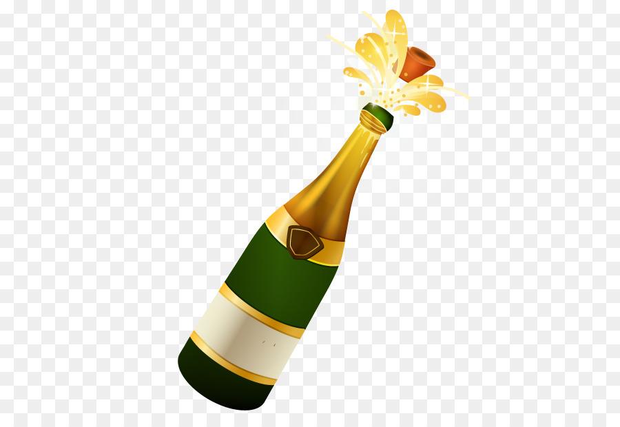 Поздравления месяцами, прикольная картинка бутылка шампанского