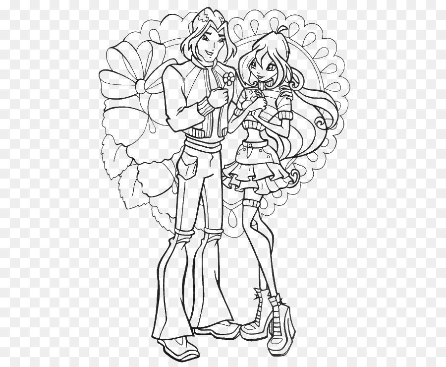 Раскраски свадьба блум и ская