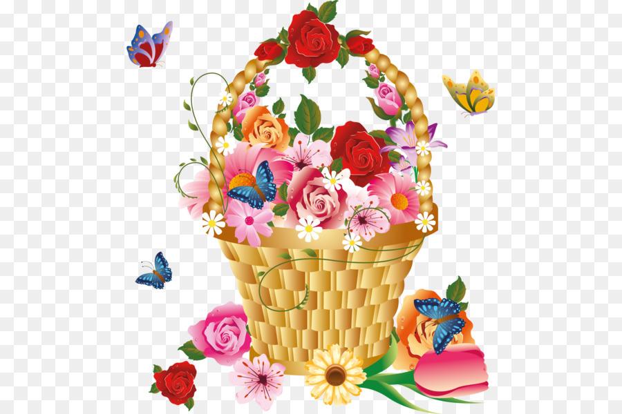 Рисунки для слайда корзина с цветами